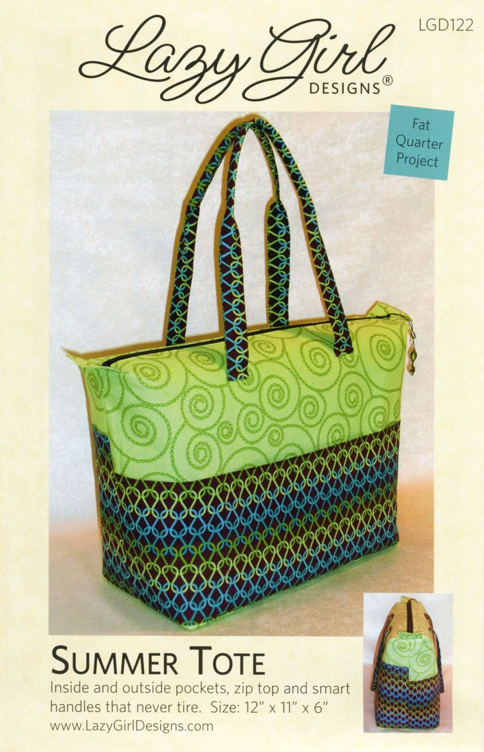 42a44cbf5703 Summer Tote sewing pattern from Lazy Girl Designs