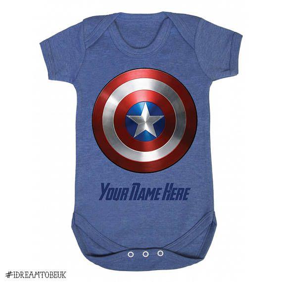 Captain America Baby Vest.