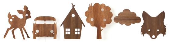 Lampe fra ferm Living med fint motiv - f.eks. Bilen, Luftballonen, ræven eller huset.