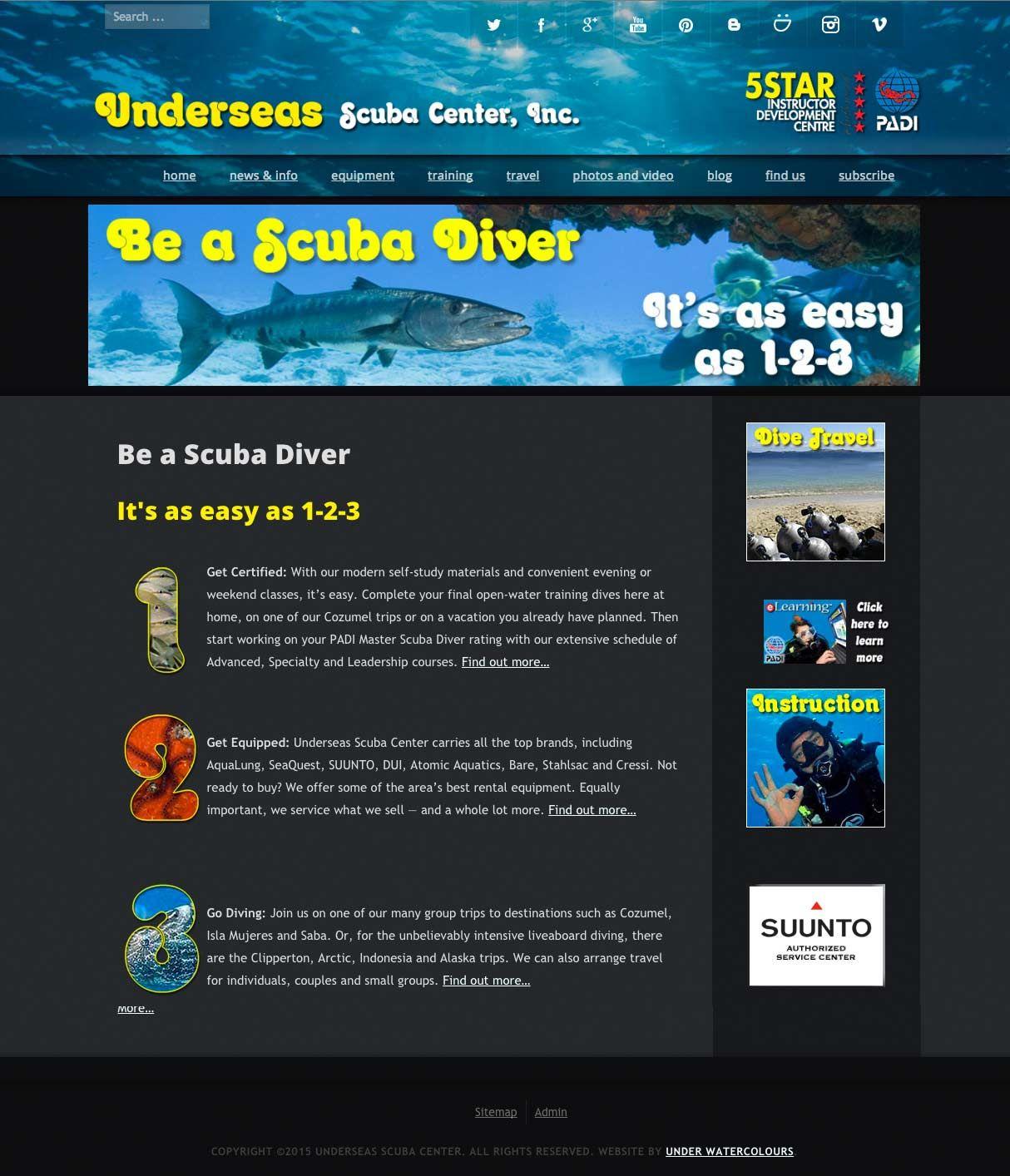 Be A Scuba Diver Its As Easy As 1 2 3 Underseas Scuba Center Is