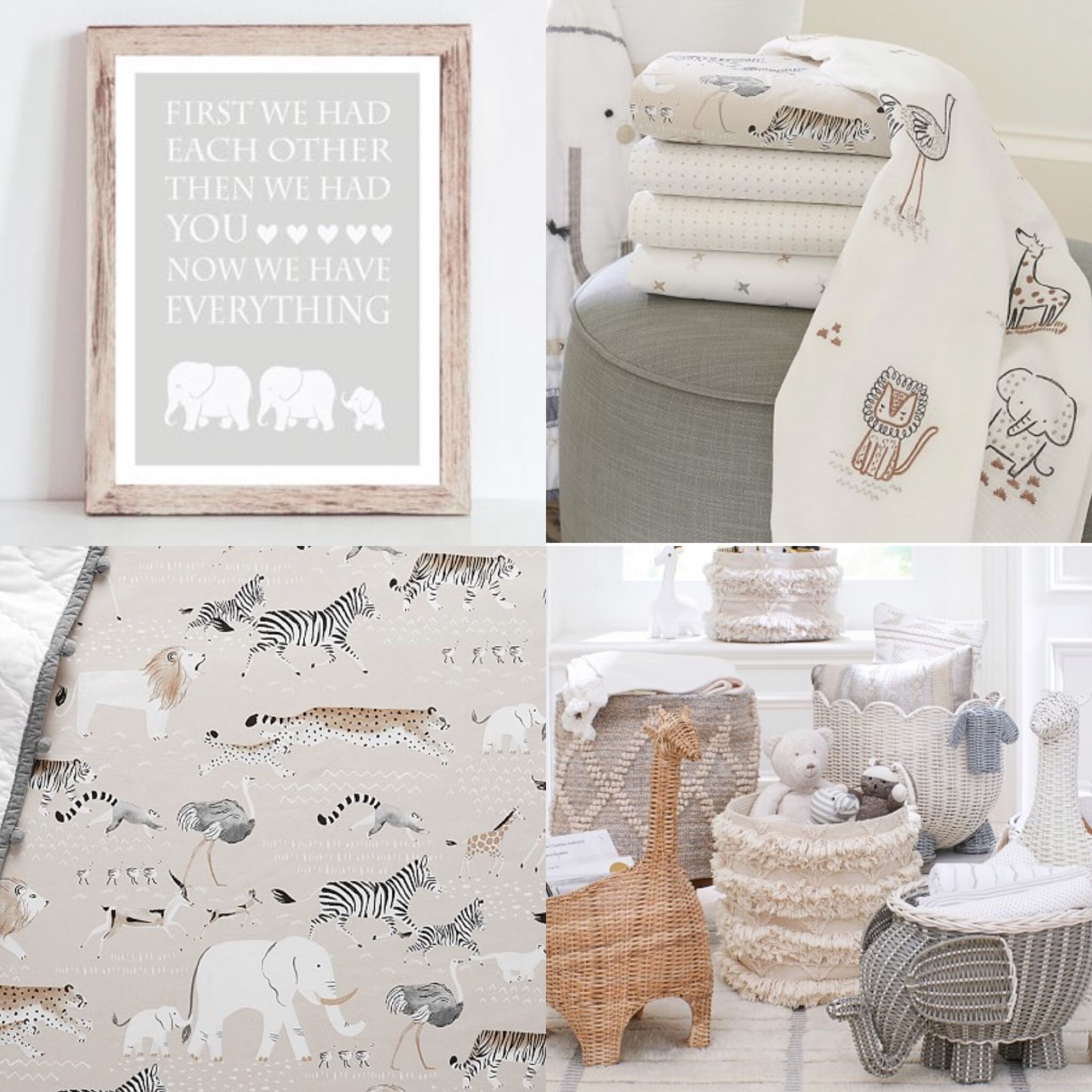 Gender Neutral Safari Nursery Decor Pottery Barn Kids Rowan