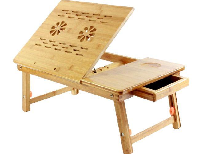 Bambusowy Drewniany Stolik Pod Laptopa Regulacja Allegro