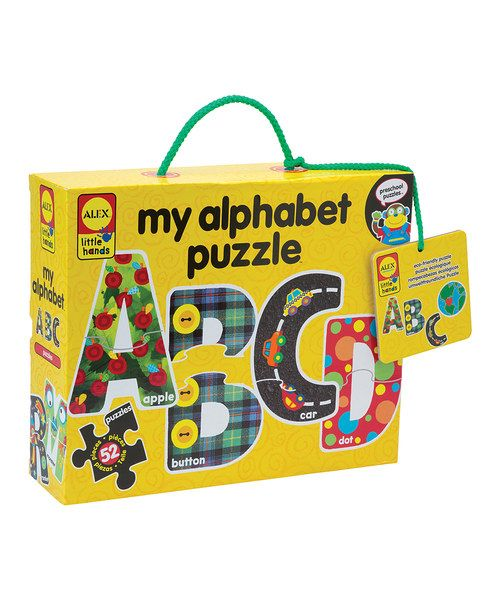 Constructed from recycled paperboard, the chunky pieces in this vibrant puzzle easily assemble to make all 26 letters of the alphabet. Aspiring authors will be naturals at forming the letters independently, ensuring early word recognition and literacy.Includes 52 piecesSoy- and water-based ink / recycled paperboardRecom...