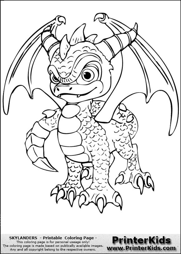 skylanders  spyro  coloring page  dragon coloring page
