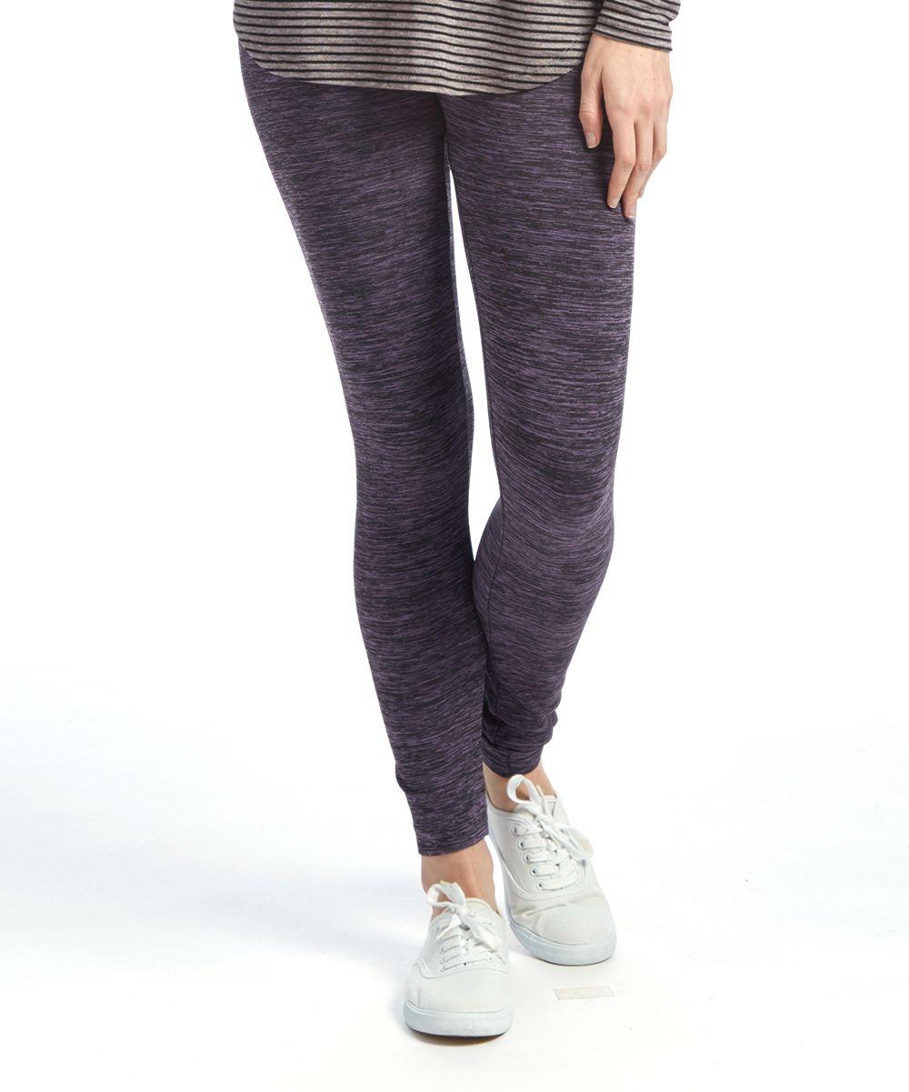 Rose & Black Two-Tone Long Leggings