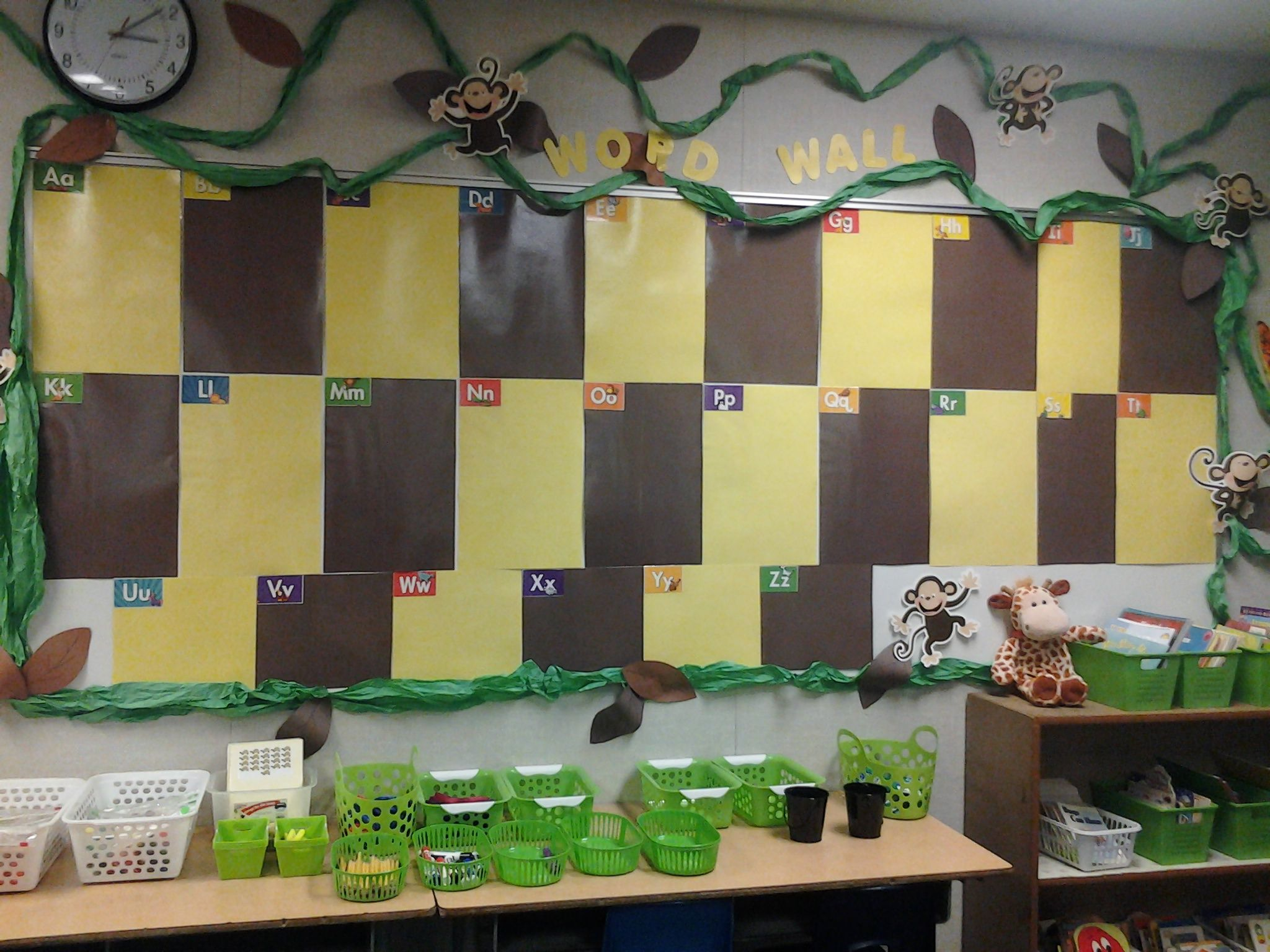 Word Wall For Kindergarten Gradually Add Words W Pictures
