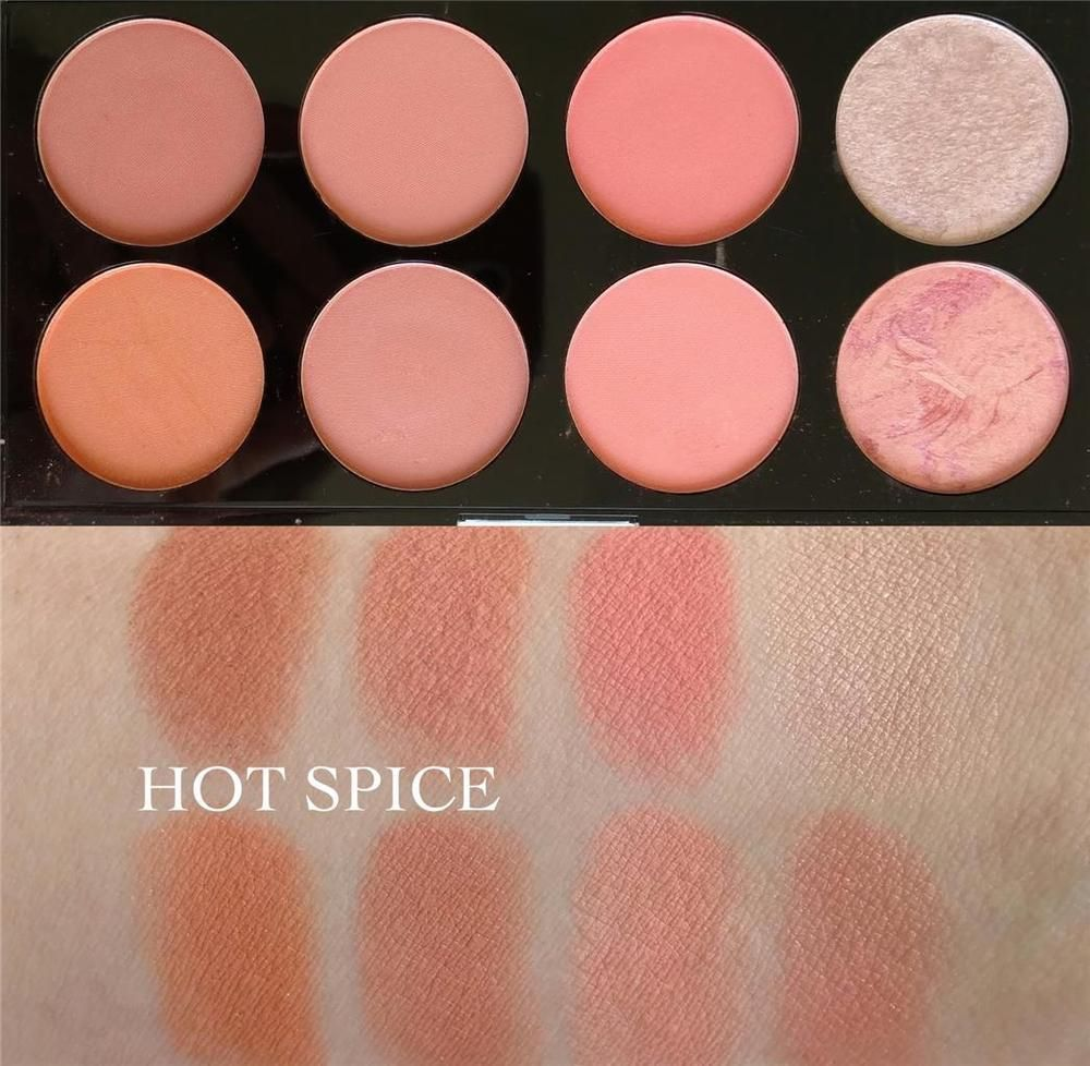 "MAKEUP REVOLUTION ""HOT SPICE"" BLUSHER PALETTE Highlighter"