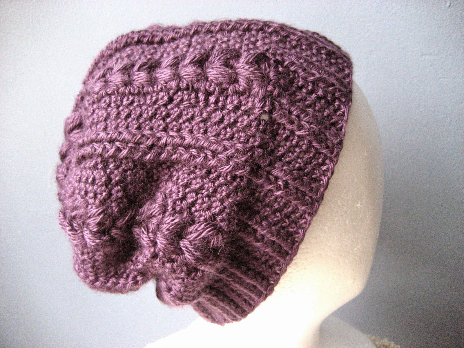 Since I already had some purple yarn out for that owl hat, I figured ...