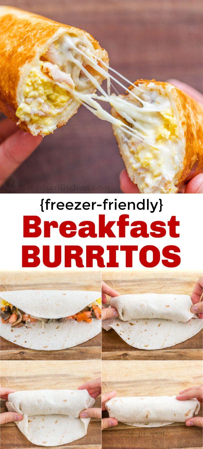 Breakfast Burritos Recipe (Freezer Friendly) - NatashasKitchen.com