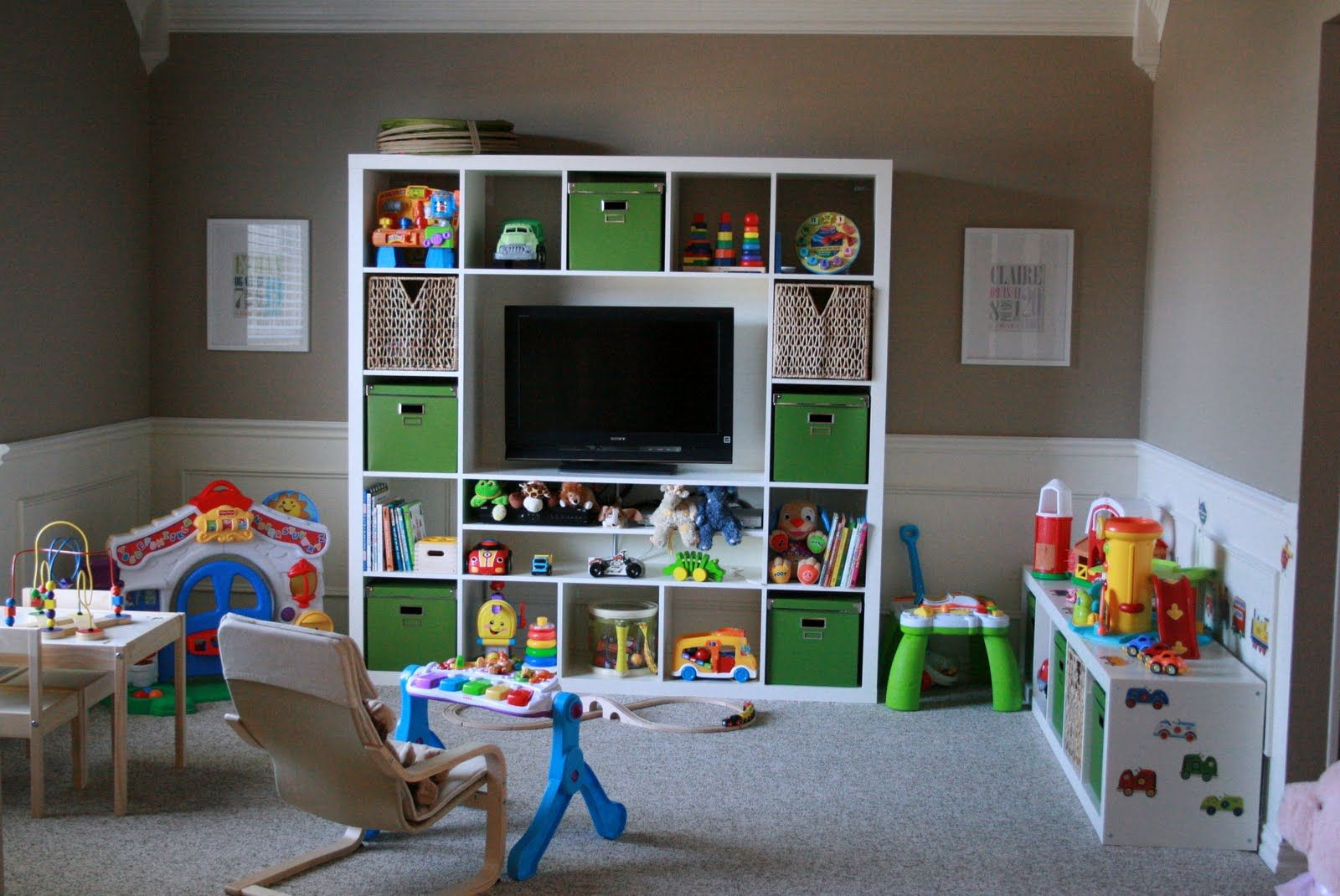 Awesome Marvelous Kids Playroom Design Ideas With White Lacquer Open Storage  Shelves Be Equipped Toy Storage Bins Of Furniture, Interior, Kids  RoomBookshelves For ... Home Design Ideas