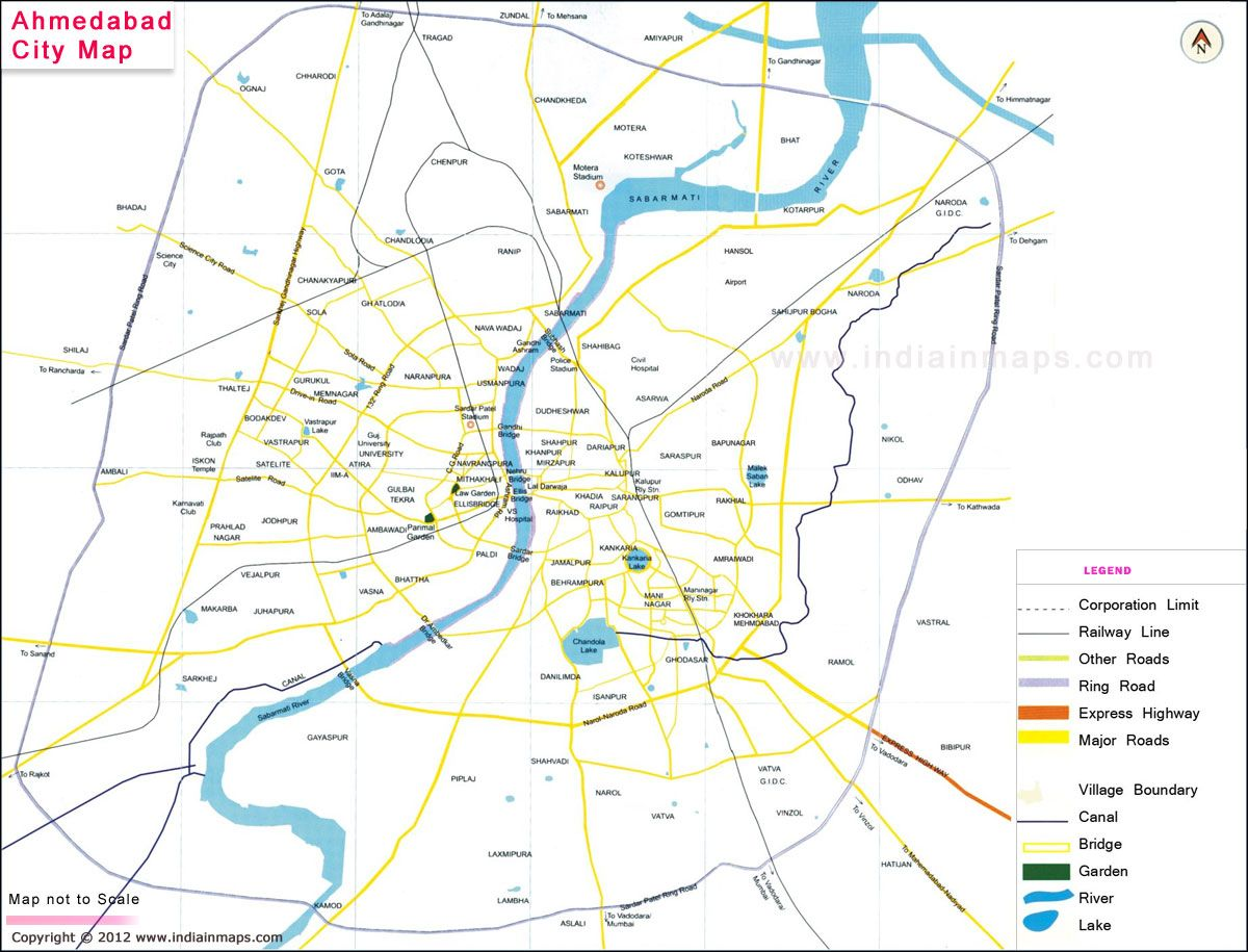 Ahmedabad City Map City Map in India Pinterest City maps