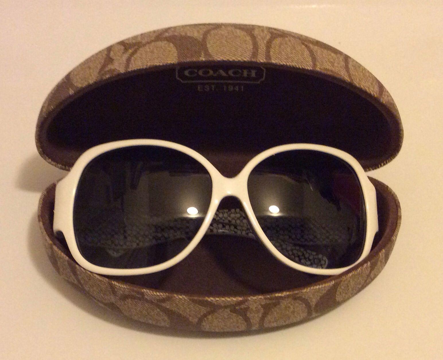 Coach white sunglasses. White sunglasses, Sunglasses