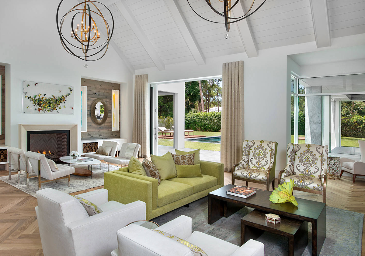 Best Elegant White And Gold Living Room Decor With Apple Green 400 x 300
