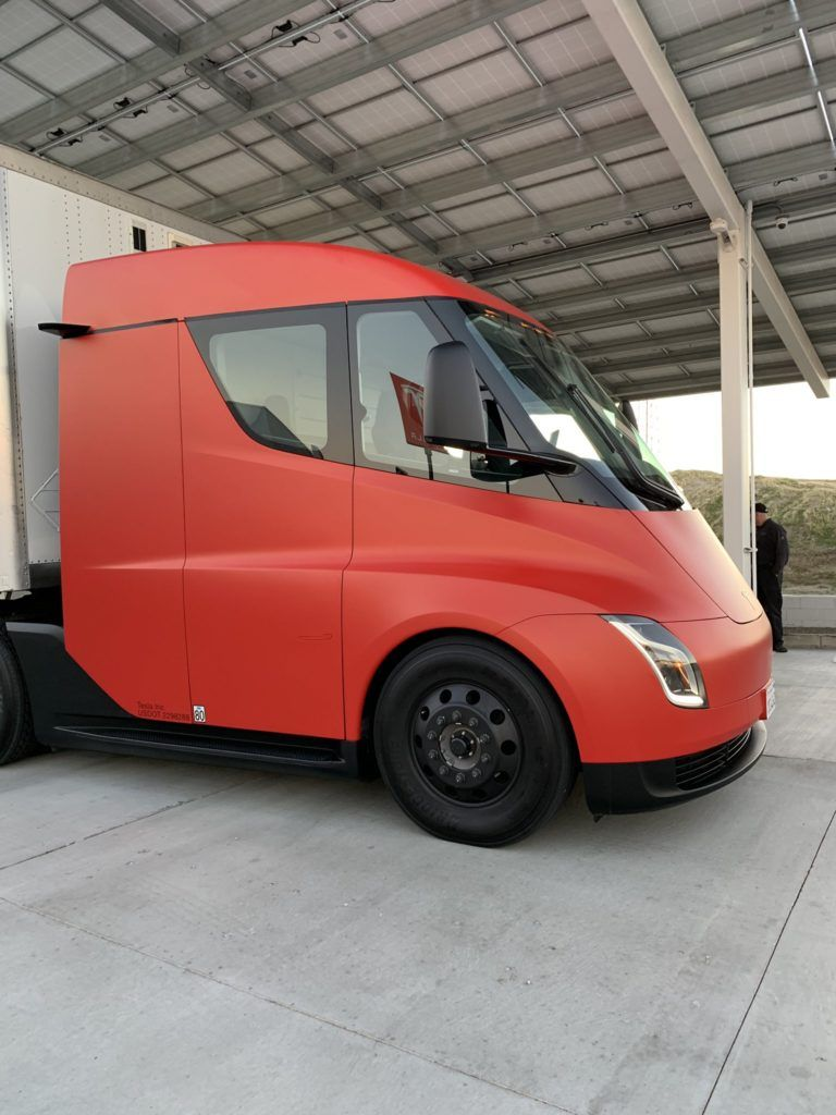 We Present To You The Red Tesla Semi Truck Hd Photos Tesla Semi Trucks Tesla Semi Truck