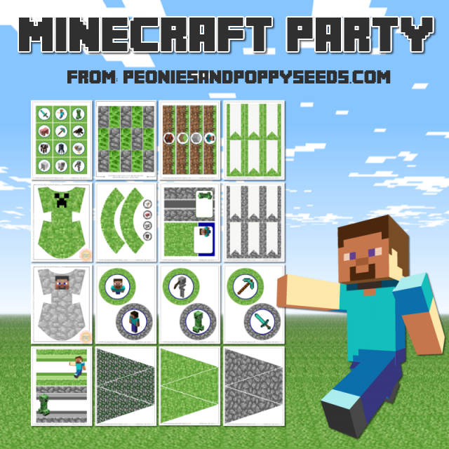 Free Minecraft Party Printables Lots Of Fun To Make Your Awesome