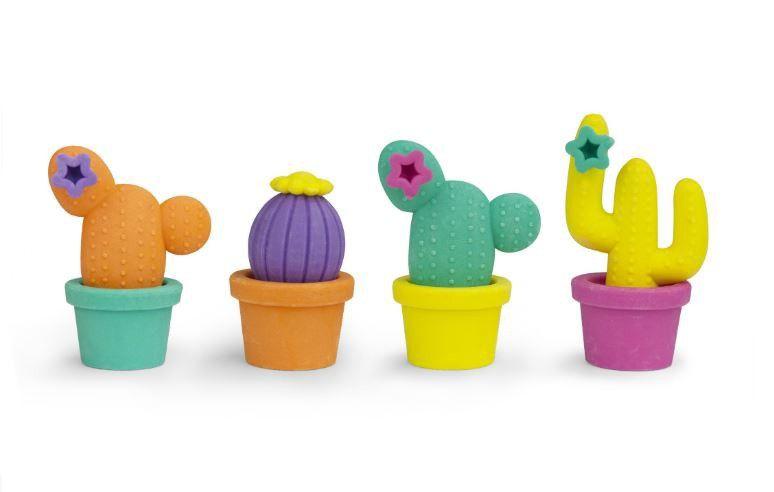 Pyyhekumi VÄRikkÄÄT Kaktukset 4 Kpl