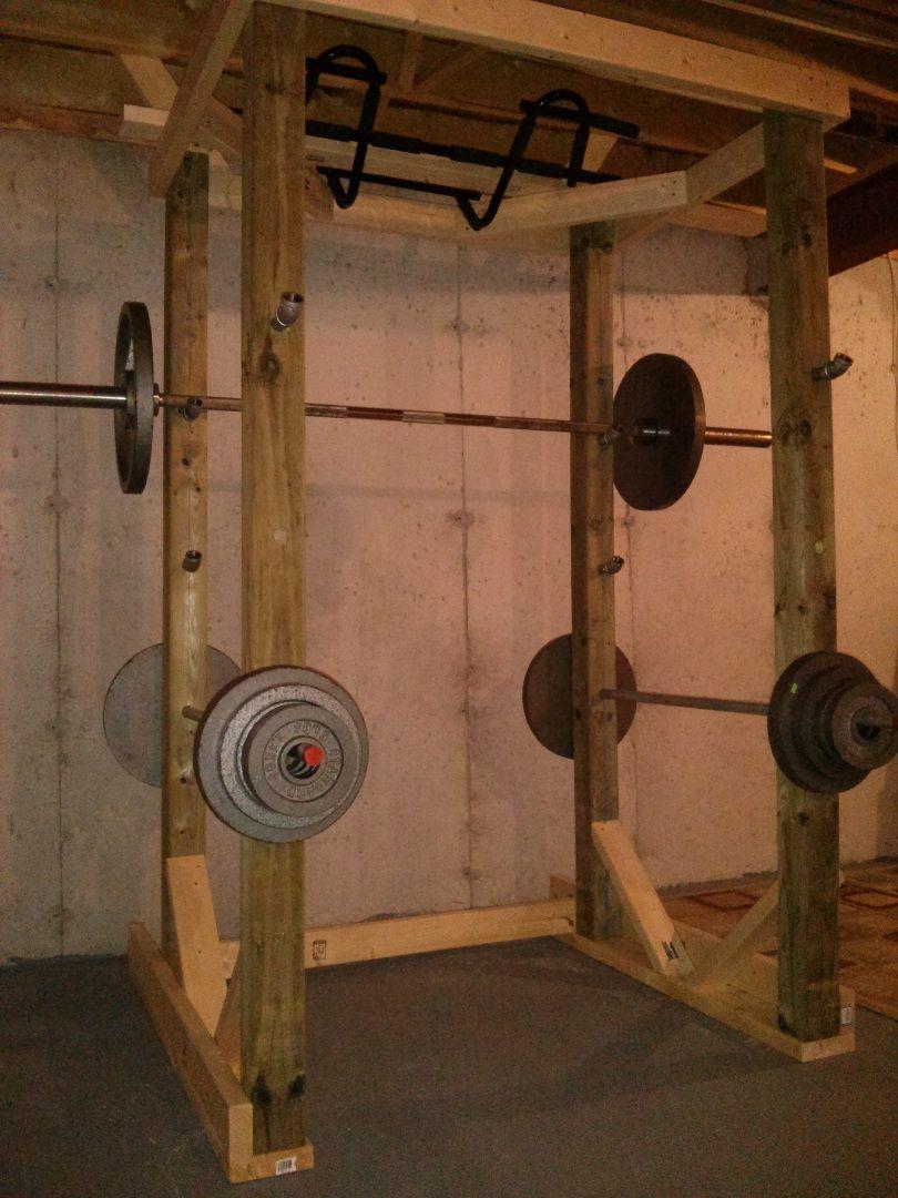 Homemade Wood Power Rack Power Rack Diy Gym Equipment
