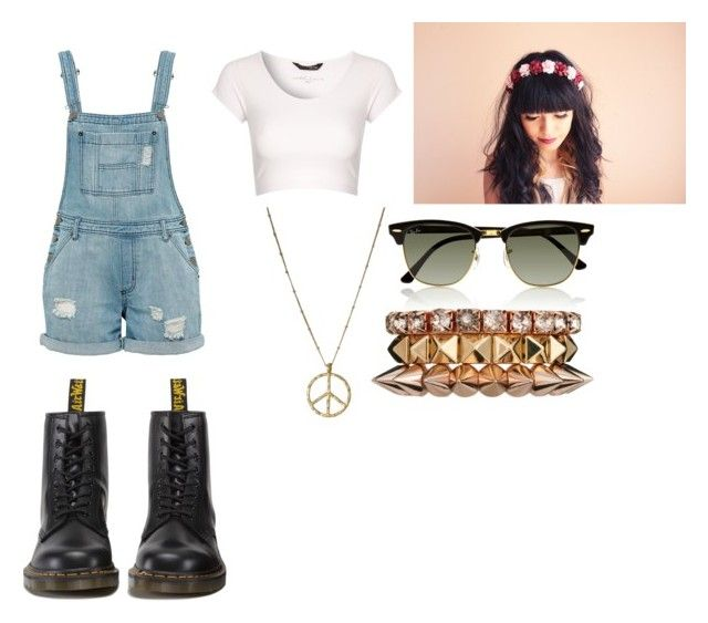 """""""ANGEL"""" by fanny483 ❤ liked on Polyvore featuring Jane Norman, Ray-Ban, ASOS and Dr. Martens"""