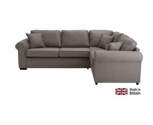 Erinne Fabric Right Hand Corner Sofa Group Charcoal Corner Sofa Grey Fabric Sofa Fabric Sofa
