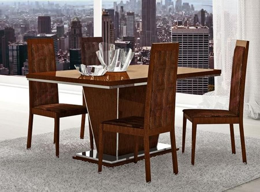 Dining Room Furniture Tables Chairs Caprice Modern Table In 3 Sizes And With Croco Eco Leather Upholstery Walnut Or White