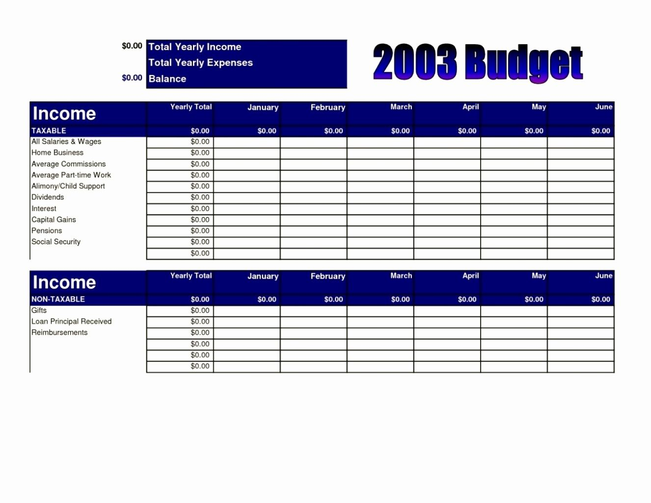 Sample Church Budget Spreadsheet