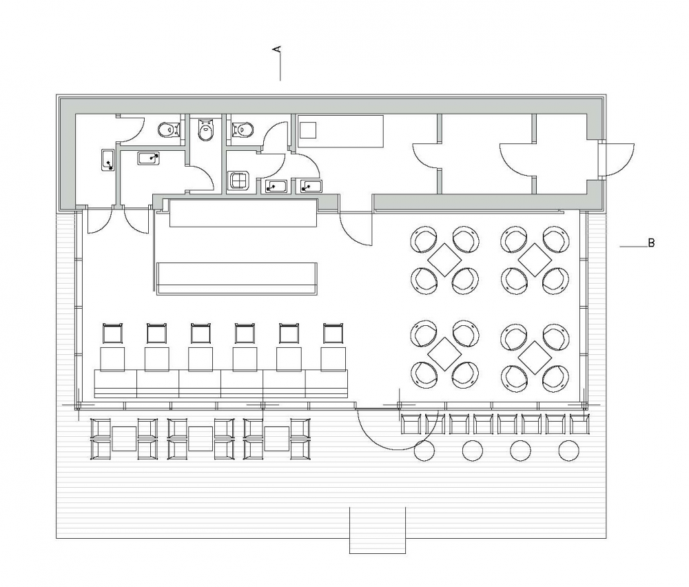 Small Cafe Floor Plan Layout