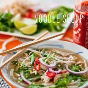 FoodieCrush Vietnamese Chicken Noodle Soup