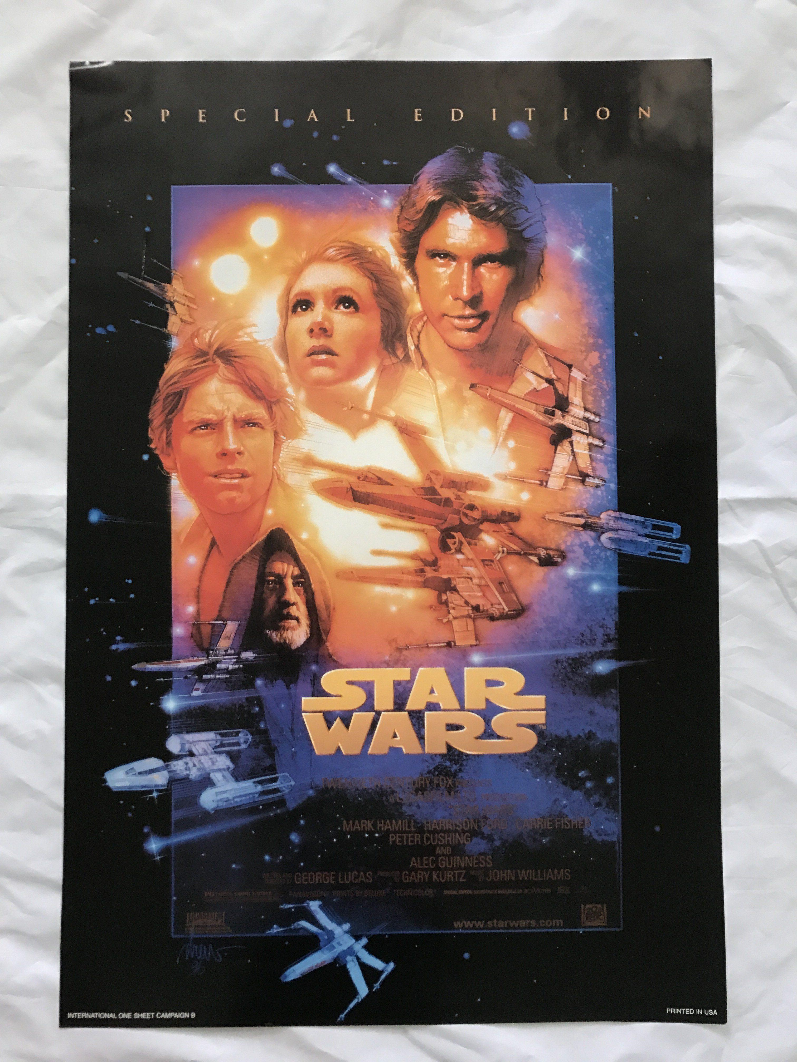 Star Wars 1997 Original Special Edition Movie Poster 27x40 Int L Canada Star Wars Movies Posters Star Wars Episode 4 Star Wars Episodes