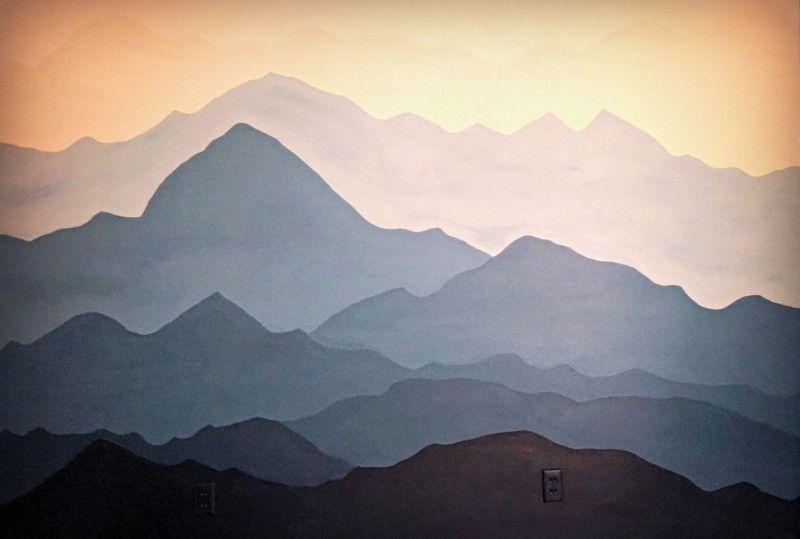 Mountain Wall Mural create a mountain mural | home decor ideas | pinterest | mountains