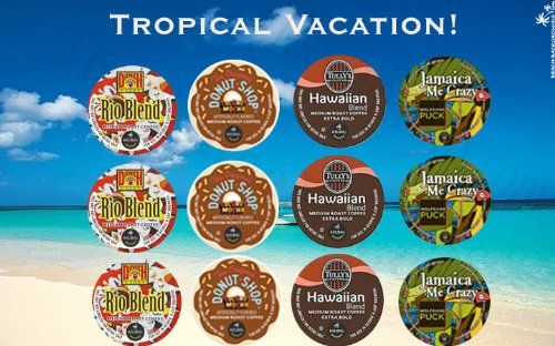 12 Kcup Tropical Vacation Coconut Coffee Kcup sampler Island