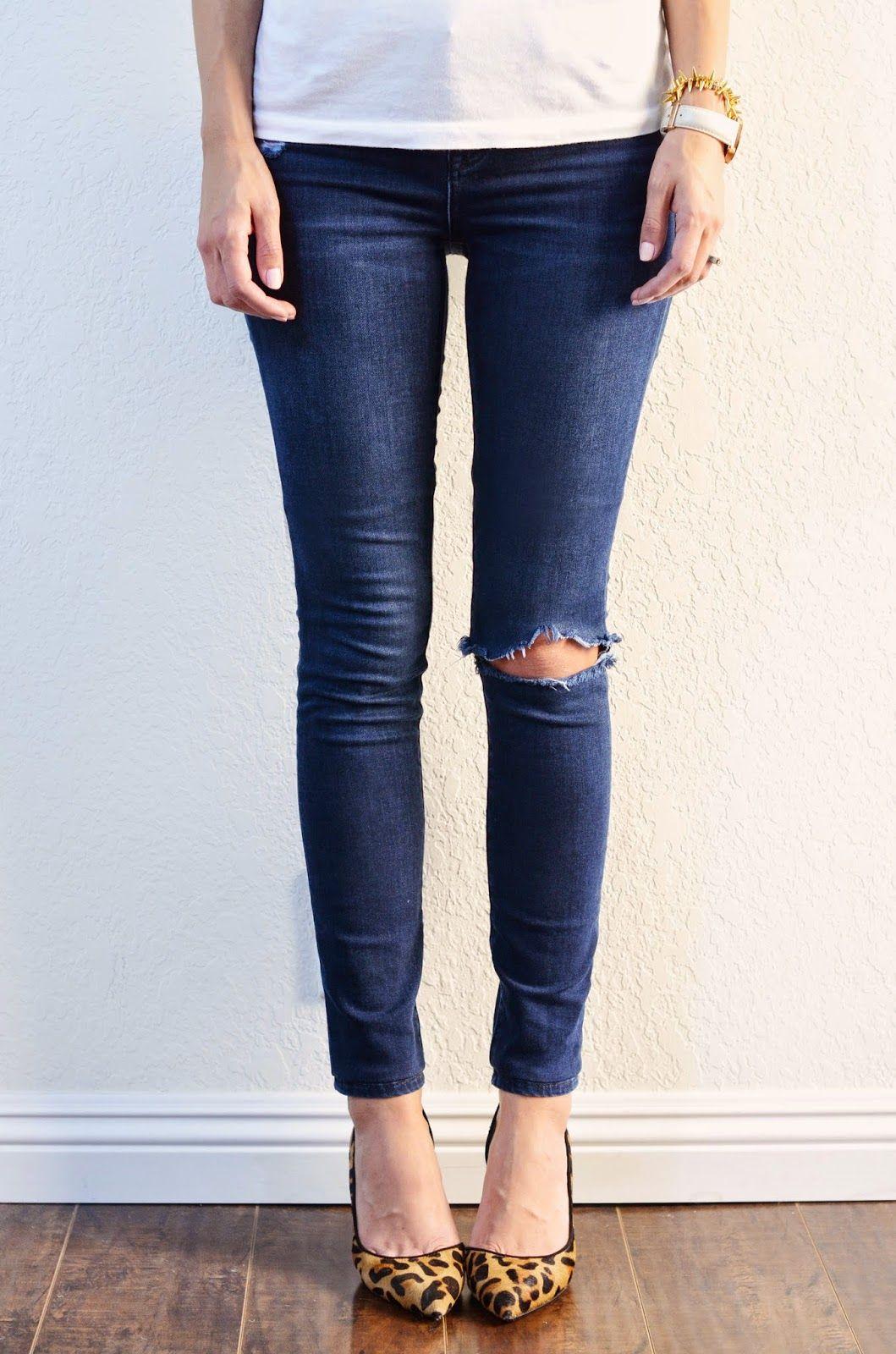 DIY: hemming jeans + keeping the original hem