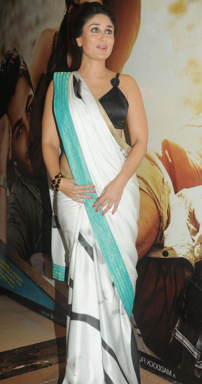 kareena kapoor hot spicy photos in white saree | kareena kapoor