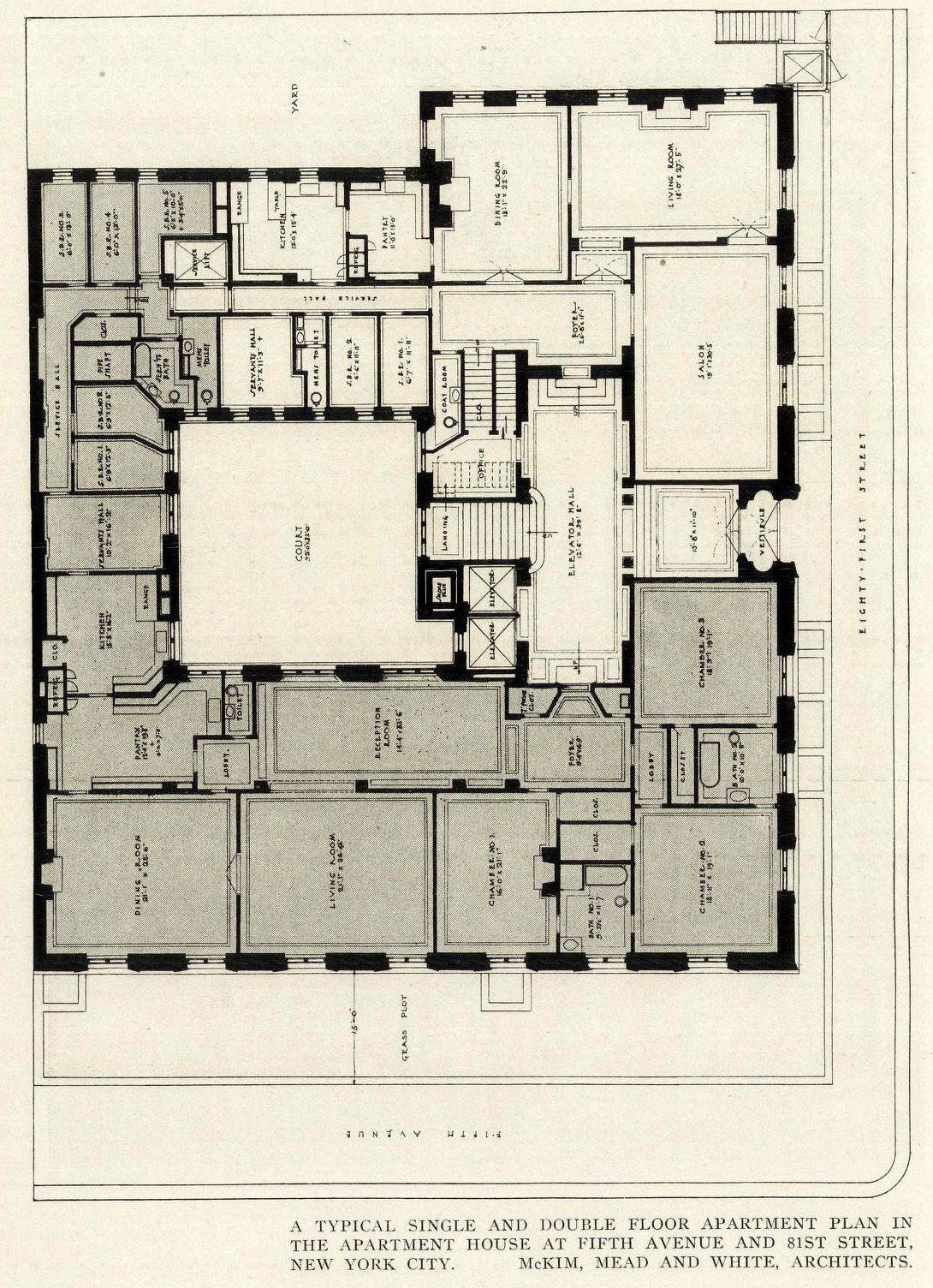 First Floor Plan Of An Apartment Building On 5th Avenue And 81st Street New York City Archi Maps Photo