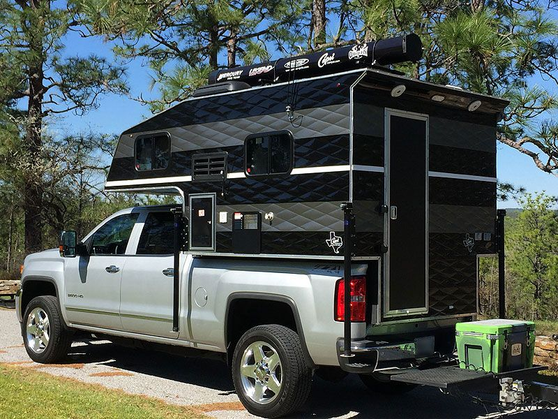 From Front Line To Fishing Line Pickup Camper Truck Bed Camper