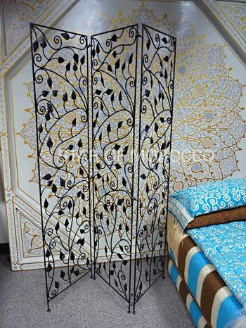 Wrought iron Leafy Moroccan Screen Moroccan Wrought iron and Screens