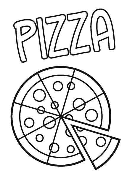 Color Me Pizza Pizza Coloring Page Food Coloring Pages Preschool Coloring Pages