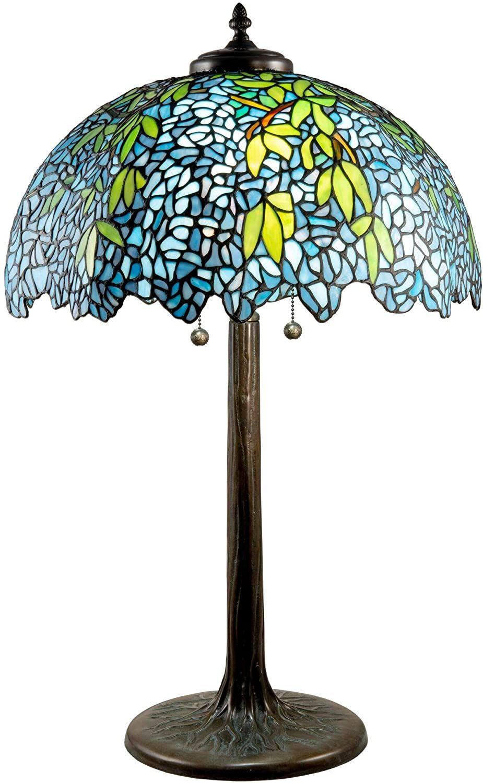 Dale Tiffany Tt18381 Wisteria Tiffany Table Lamp Porto Antique Bronze Verde Tools Home Improvement Ligh Lamp Tiffany Table Lamps Stained Glass Table Lamps Dale tiffany table lamp