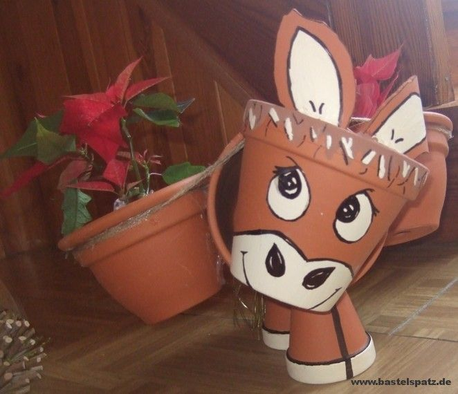 Tontopf Esel Blumentöpfe Pinterest Tontöpfe, Esel und - figuren aus ton selber machen
