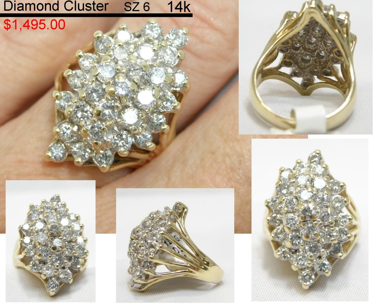 This beautiful 14k Diamond Cluster (sz6) would be a great Gift. Stop on in to Stop and Pawn and get this beuaty before its gone.