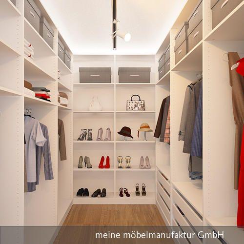 Great Gro er begehbarer Kleiderschrank in kleinem Raum mit viel Stauraum f r Kleider Accessoires Schuhe und