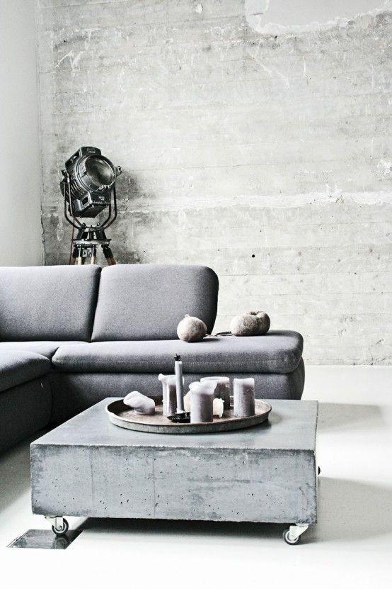 Beton Tisch Pregelweg Pinterest Industriell, Industrie-stil - industrielle stil wohnung