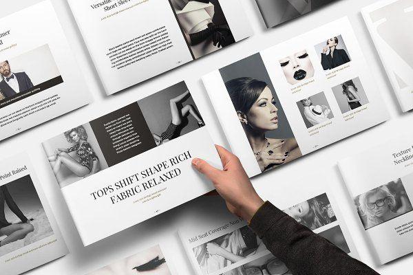 Vela Brochure Template by SlideStation on @creativemarket 9000+ - fashion design brochure template
