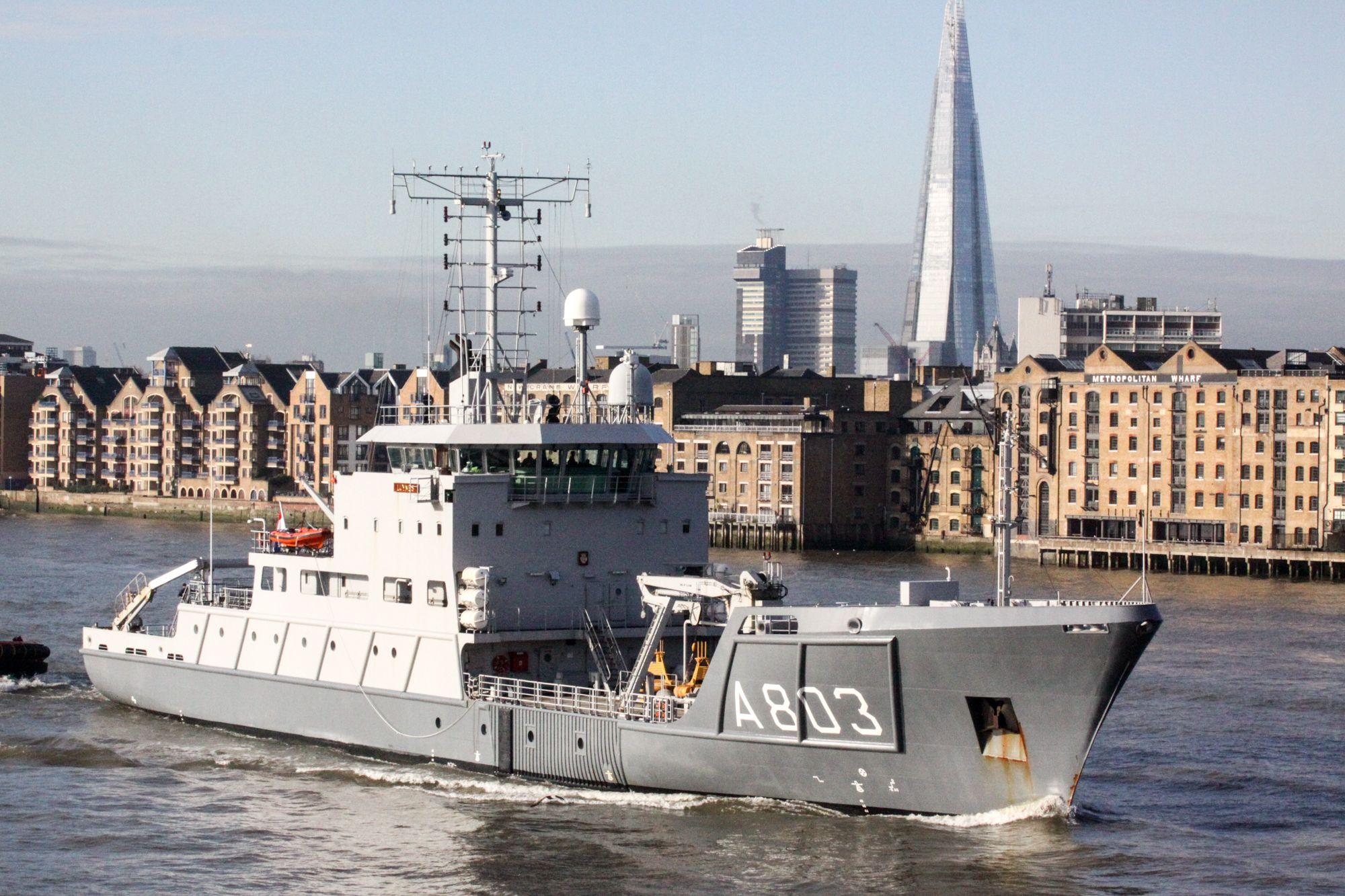 Dutch Navy auxiliary vessel.