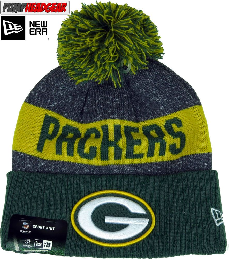 95c643b645b Green Bay Packers New Era NFL Sideline Sport Knit Bobble Hat