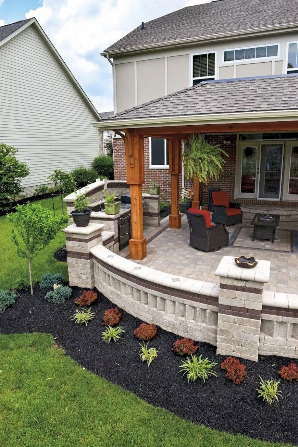 54 Awesome Backyard Patio Deck Design And Decor Ideas Patio Deck