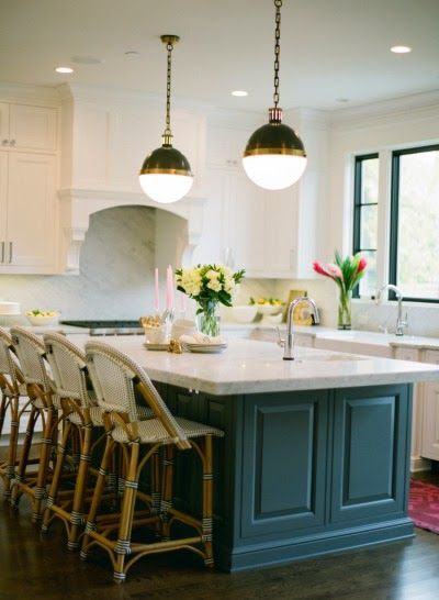 6th Street Design School: Tips For Doing A White Kitchen Like Different  Color Island