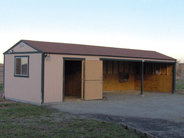Premier Tall Ranch Loafing Shed | Barn ideas | Horse barn