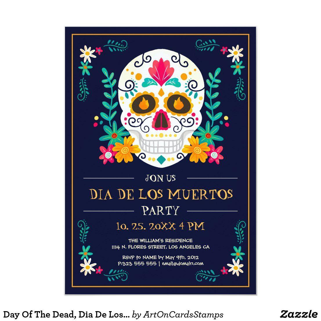 Day Of The Dead, Dia De Los Muertos Party Invite