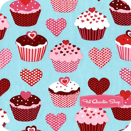 Confections Aqua Lovely Cupcakes Yardage SKU# 12986-70