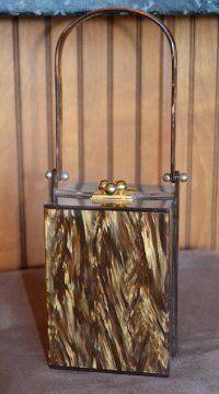 Vintage 1950s Marble Lucite Box Purse Single Handle RARE | eBay